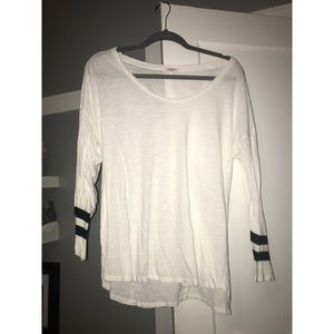 J.Crew Long Sleeved Tee with Black Stripes